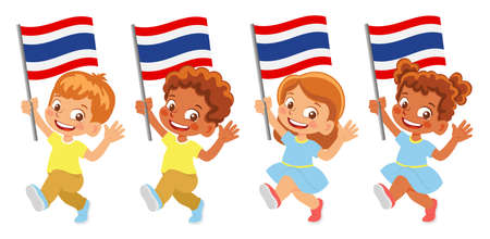 Thailand flag in hand set