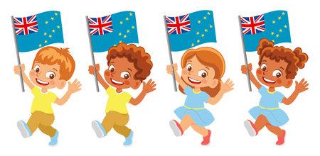 Tuvalu flag in hand set