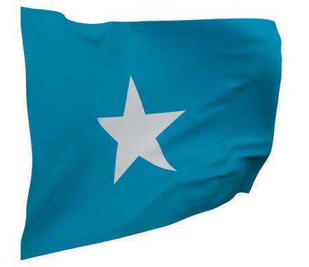 Somalia flag isolated. Waving banner. National flag of Somalia