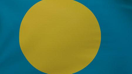 Palau flag texture