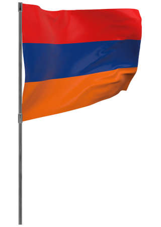 Armenia isolated. Waving banner isolated. National flag of Armenia Banque d'images - 167336251