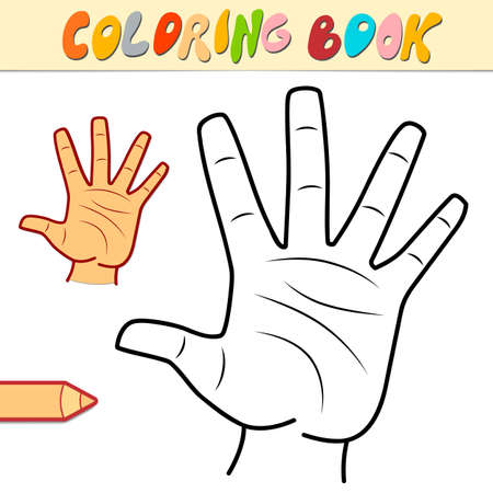 Coloring book or page for kids. hand black and white vector illustration