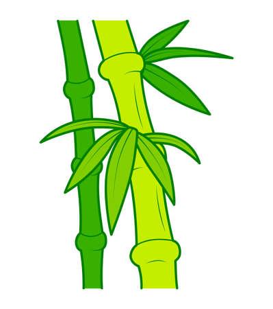Cute bamboo cartoon. Bamboo clipart vector illustration