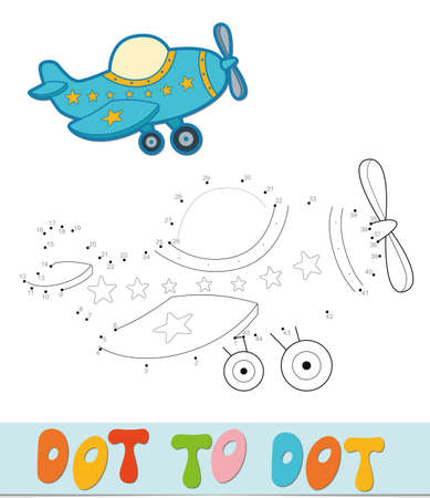 Dot to dot puzzle. Connect dots game. plane vector illustration