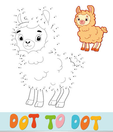 Dot to dot puzzle. Connect dots game. sheep vector illustration