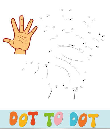 Dot to dot puzzle. Connect dots game. hand vector illustration