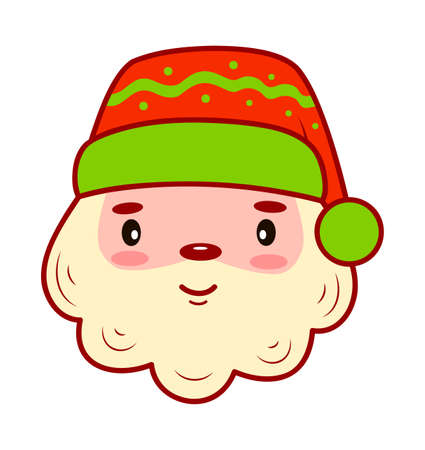 Christmas cartoons clip art. Christmas Santa Claus clipart vector illustration