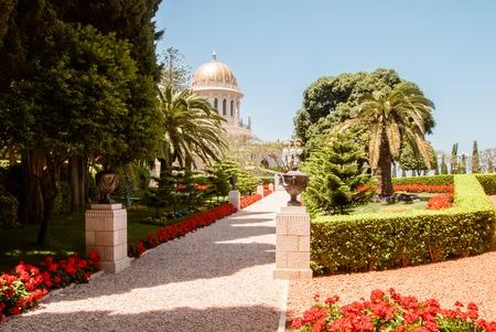 bahaullah: Bahai temple in Bahai garden, Carmel mountain, Haifa, Israel.