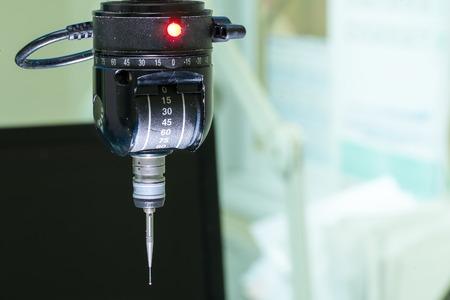 Indexable probe head equipment at quality control assurance department labaratory Standard-Bild