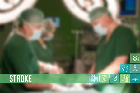 chirurgo: Corsa concetto medico di immagine con le icone e medici su sfondo