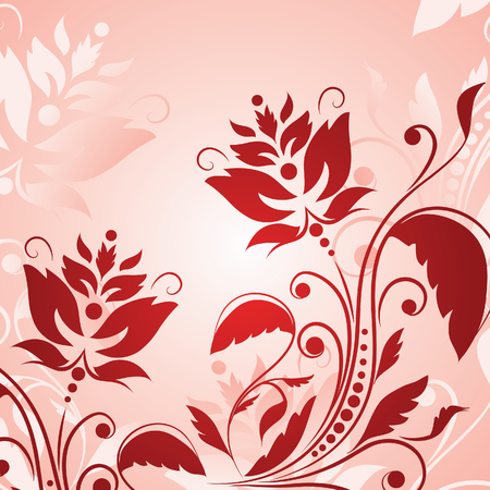 single color image: Floral background with flowers