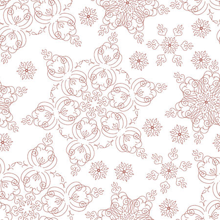 Seamless winter background with snowflakes. Vector illustration. Vector