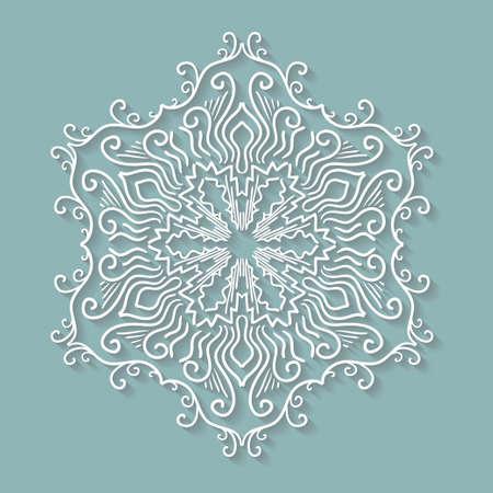 Papier Spitzendeckchen, Dekorative Schneeflocke, Rund Häkeln ...