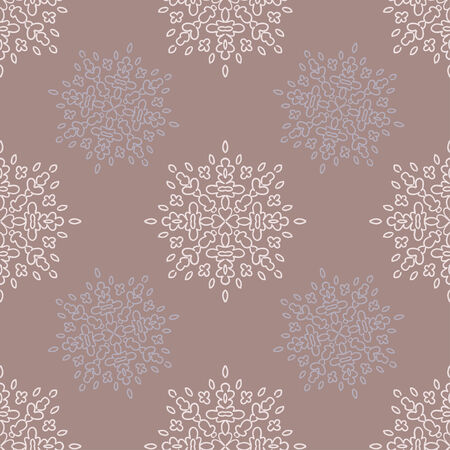 Seamless winter background with snowflakes, vector illustration. Vector