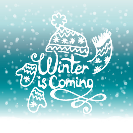 Winter is coming. Christmas Background. Vector illustration.