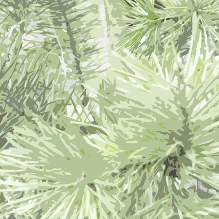 Spruce trace green Christmas background. Vector illustration.