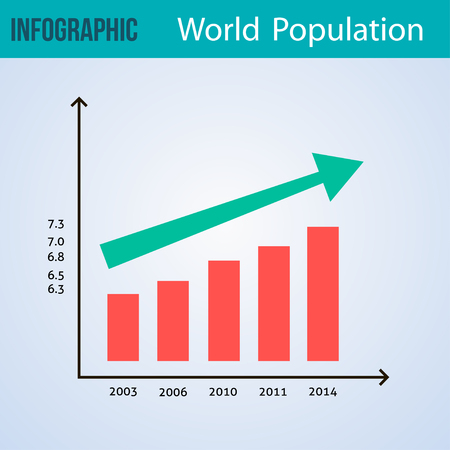 babble: Abstract Infographic vector illustration background. World population Illustration