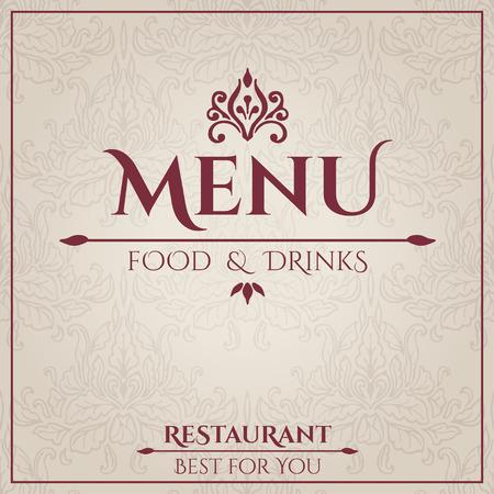 Elegant Vintage Restaurant Menu design. Vector illustration Vector