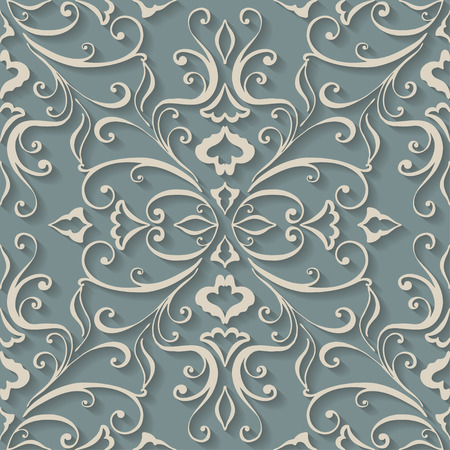Vector 3d Seamless Pattern Background. For cards decoration. Vector illustration