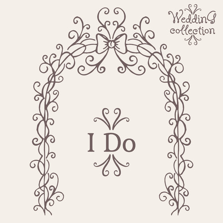 Wedding collection. Altar and I Do. Vector illustration