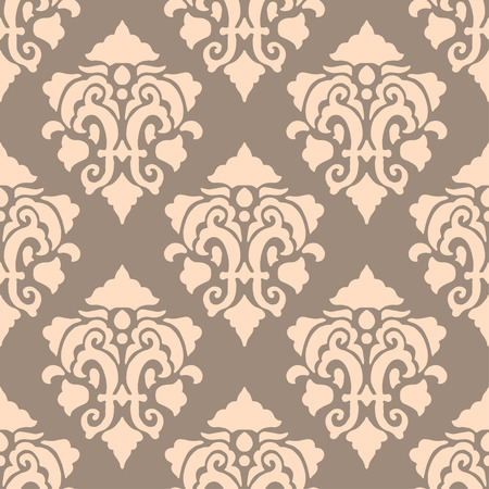 Vintage seamless background with floral ornament. Vector illustration Vector
