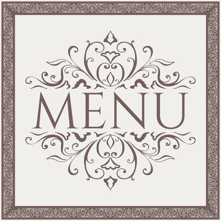 Elegant Restaurant Menu design with beauty pattern. Vector illustration Stock Illustratie