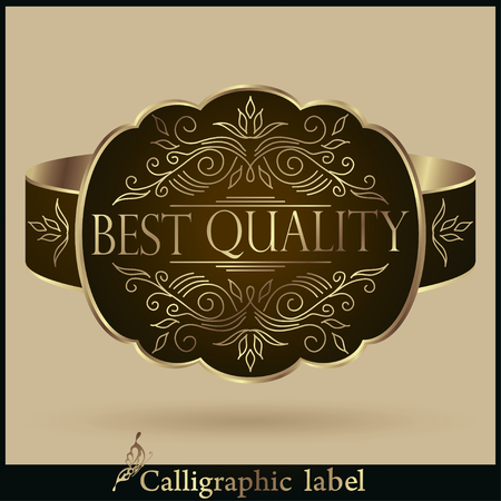 approval rate: Vector illustration. Set of Labels Guaranteed, Premium Quality, Rate