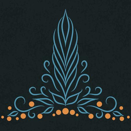 Calligraphic vintage design pattern element. Vector illustration Vector