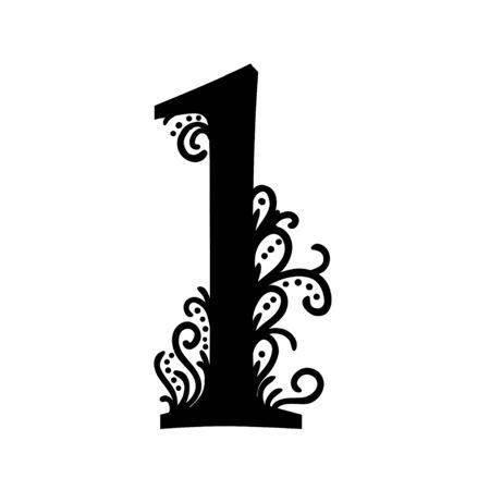 peacock design: Set of Isolated stylized calligraphic illustrations. ABC Illustration