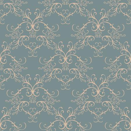 Nahtlose mit Vintage-Blumenmuster. Vektor-Illustration Standard-Bild - 42584946