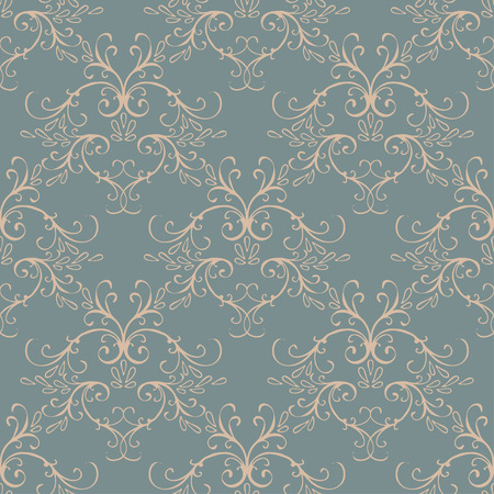 style background: Seamless with vintage floral pattern. Vector illustration