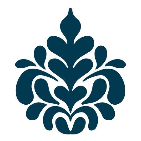 seta thailandese: Astratto isolato bellezza motivo floreale. Illustrazione vettoriale