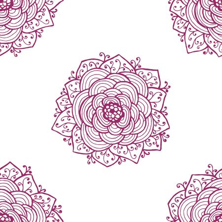 old wallpaper: Seamless of abstract roses pattern. Vector illustration
