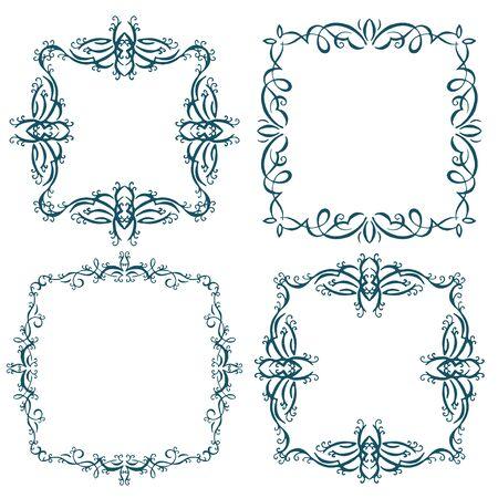 calligraphic design: Calligraphic design element, vintage pattern. Vector illustration Illustration