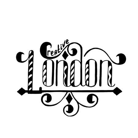 artistically: Logo design. Artistically Drawn Stylized  Vintage Floral Vector illustration.