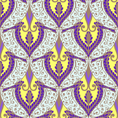 peacock design: Seamless with vintage floral pattern. Vector illustration