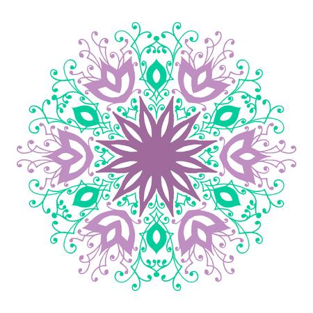 marcos redondos: Patrón de mandala aislada. Vintage marco de fondo étnico. Ilustración del vector.