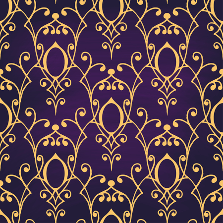 textile fabrics: Seamless with vintage floral pattern. Vector illustration