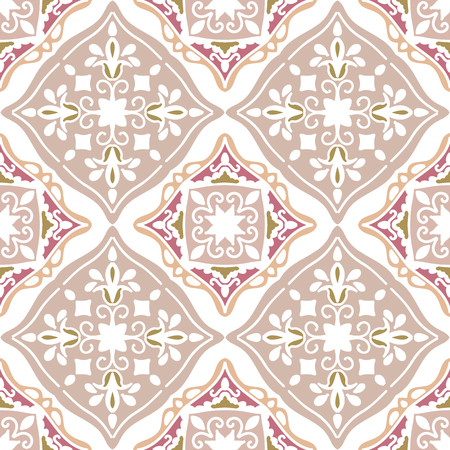 Colorful Moroccan tiles ornaments. Can be used for wallpaper, pattern fills, web page background, surface textures. Vector illustration Stock Illustratie
