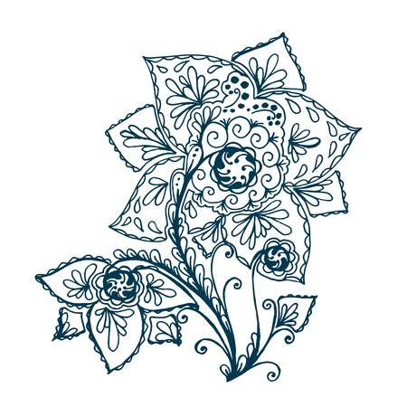 Isolated Abstract Floral pattern design. Vector illustration