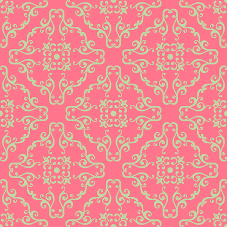 vintage ornament: Vintage seamless pattern with floral ornament.