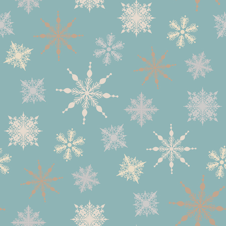 s eve: Seamless winter background with snowflakes. vector illustration