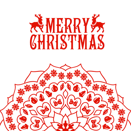 journeying: Merry Christmas lettering. Congratulations card.