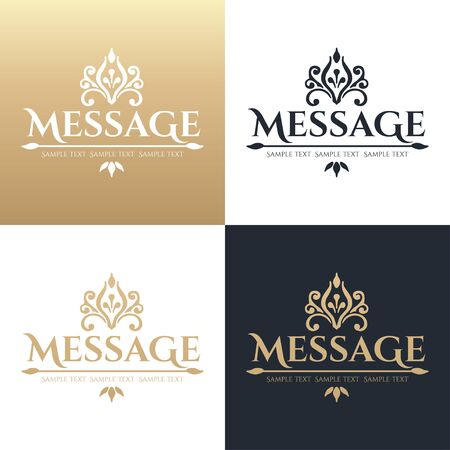 fashion boutique: Calligraphic design element. Boutique brand, golden  design template. Vector illustration Illustration