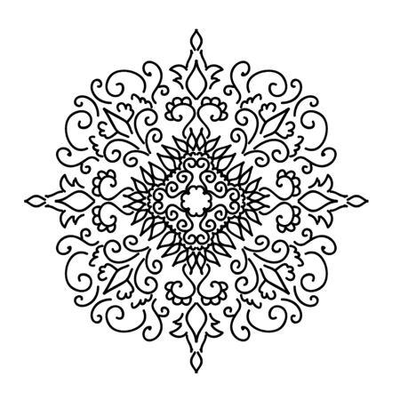 calligraphic design: Calligraphic design element. Boutique brand, golden design template. illustration Illustration