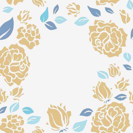 vintage floral frame: Vintage frame with floral pattern.