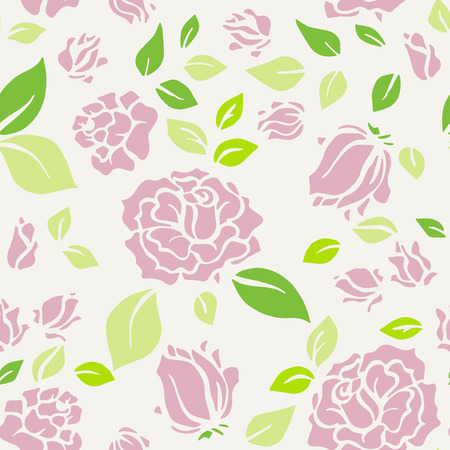 chic: Shabby Chic Rose Pattern and seamless background.