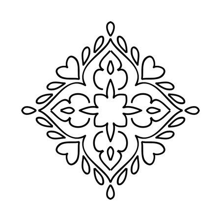moroccan: Isolated Abstract moroccan Floral pattern. Vector illustration