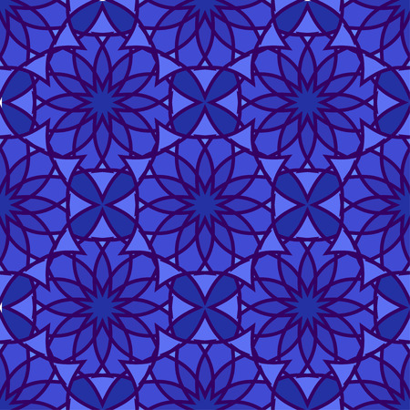 Colorful Moroccan tiles ornaments. Can be used for wallpaper, pattern fills, web page background, surface textures. Vector illustration Illustration