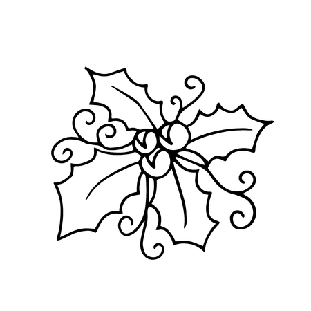 Isolated pattern with floral lace ornament for Christmas collection. Vector illustration